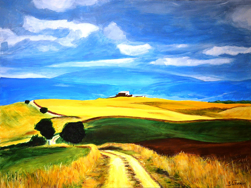 0210 - Campagna siciliana - 60x80x4 (Non disponobile)