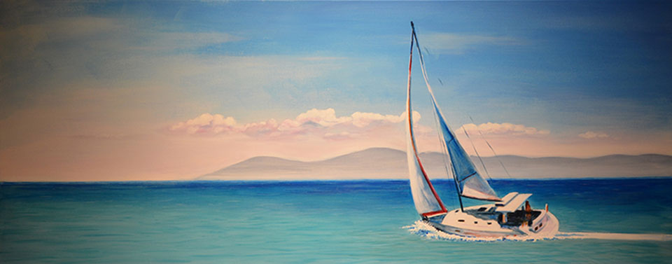 0780 - Barca a vela - 40x100x4 (Non disponibile)
